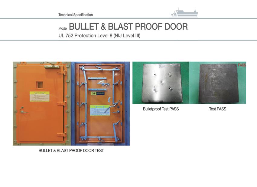 BULLET & BLAST PROOF DOOR